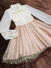 LIZ LISA Dress Japan-M Ivory bouse+Tulle skirt Hime&Lolita Romantic 109Fashion