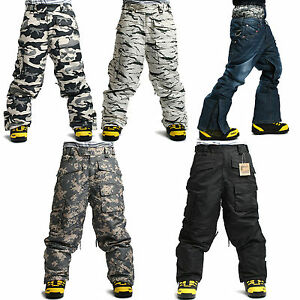 TOP Quality SOUTH PLAY Mens Ski SnowBoard Waterproof Snow Winter Pants Trousers