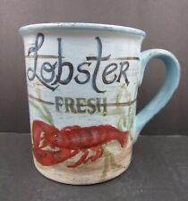 Certified International Kate McRostie Fresh Lobster Coffee Mug Cup Seafood