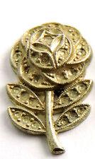 Antique Sterling Silver Pendant Earring FLOWER Design Piece Marcasite #EST576
