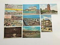 LOT 8 Ocean Atlantic City NJ postcards vintage 1911 1964 1973 Flanders Edgewater