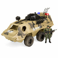 BCP Military Fighter Tank Truck Toy Play Set w/ Army Soldier, Lights, Sounds