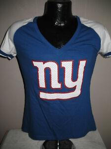 NFL New York Giants Football Eli Manning #10 Team Logo  T Shirt Womens Sizes Nwt