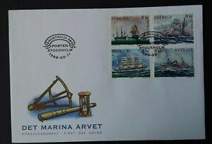 """Sweden 1999 SG2020/3 """"Australia '99"""" International Stamp Exhibition FDC"""