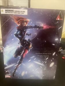 Square Enix Play Arts Kai Variant Marvel Universe BLACK WIDOW Figure Authentic