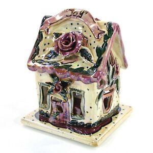 "Heather Goldminc JOY - ROSE 6"" Candle House Flower Floral Blue Sky CL20012 MIB"