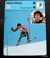1977-1979 Sportscaster Card Alpine Skiing Fausto Radici 16-23