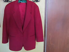 SALE! L L BEAN Red Cashmere Wool Blazer Jacket Coat Womens Sz 14-16