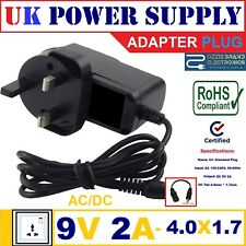 To Fit Buyee Portable DVD Player XST 1011 POWER Supply Adapter MAINS 9V 2A AC-DC