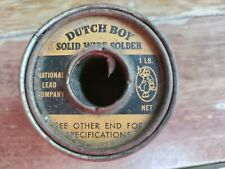 Vtg Dutch Boy Case Solid Wire 5050 Solder Products Metals Casting Alloys Freesh