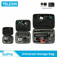 TELESIN Action camera Accessories Universal Storage Carry Bag Case Box For GoPro