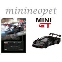 TSM MINI GT MGT00020 MCLAREN SENNA 1/64 DIECAST MODEL CAR ONYX BLACK