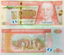 "Guatemala 50 Quetzales Bill Series 2013 ""Uncirculated"" Nice & Crisp Paper Money"