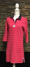 Jack Murphy Shirtdress Pink Stripe With Design Velvet Collar Heavy Cotton US 8