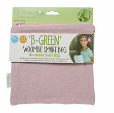 Woombie B-Green Snack Bags (Pink Posey, One Size)