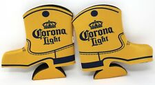 2-Back Corona Light Beer Country Western Boot Bottle Cozy Cooler Coozie Koozie