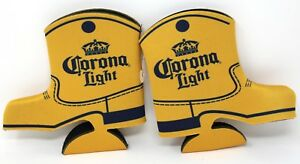 2-Pack Corona Light Beer Country Western Boot Bottle Cozy Cooler Coozie Koozie