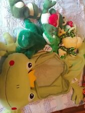Assorted Stuffed Frogs And Frog Stuffed Holder