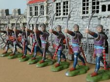 BRITAINS SWOPPET KNIGHTS, 8 LONGBOWMEN, Toy Soldiers, Renegade Repaints Lot B
