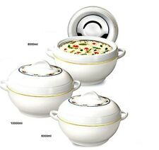 3pc Jumbo Ambient Hotpot Food Storage Warmer Round Insulated Large Casserole Set