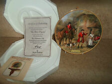 """""""The Three Pigeons"""" Plate - In The Huntsman's Call~Hunting Nostalgia+Certificate"""