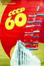 Vintage Soviet poster 60th anniversary of the USSR 'Communism is our goal' 1981