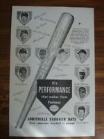 Vintage Louisville Slugger Poster, It's Performance that makes them famous