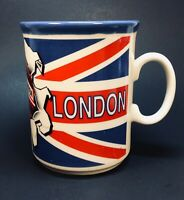 CPM Lic Design Coffee Mug LONDON Union Jack Double Decker Bus Tea Cup UK England