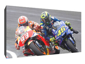Marc Marquez bar bang rossi canvas wall art Wood Framed Ready to Hang XXL