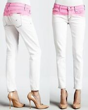 $189 NWT Hudson 28 Jeans Krista Super Skinny Crop Chelsea Pink Pants Women Girl