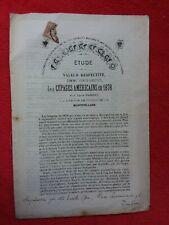 Brochure 1878/Etude des CÉPAGES AMERICAINS/Vignes/vin/Porte Greffes