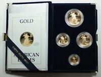 1989 American Eagle Gold Proof 4 Coin Set AGE in Box w/ COA