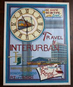 ONE-OF-A-KIND Indianapolis Indiana Interurban Railroad / Trolley Poster artwork!