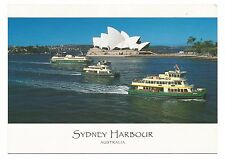 NSW - c2000s POSTCARD - CLASSIC SYDNEY FERRIES, HARBOUR & OPERA HOUSE, SYDNEY