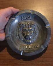 MGM Studios Ash Tray Antique Style Solid Metal Metro Goldwyn Mayer Patina