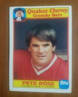 PETE ROSE- QUAKER Granola Bar Card- #11- 1986