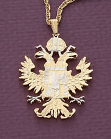 "Austrian Eagle Pendant, Hand Cut Austrian Coin, 1 1/2"" in Diameter, ( # 908 )"