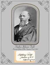 Associate Justice US Supreme Court Stephen Johnson Field  Photo & Autograph