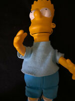 "Vintage The Simpsons BART SIMPSON Plush 10"" Doll Vinyl Head Dan Dee 1990"