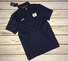 NWT Under Armour Mens Small Notre Dame Coaches Polo Golf Shirt Fighting Irish