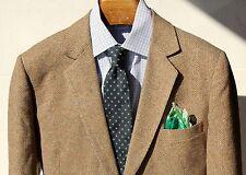 May Company 44L Gentleman's Brown Herringbone Tweed Sport Coat - USA