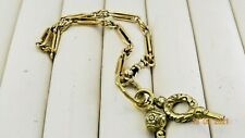 More details for gorgeous antique rolled gold bracelet with charms