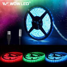 WOW - 5V 5050 RGB LED Strip Light Colour Changing USB TV PC Back Mood Lighting