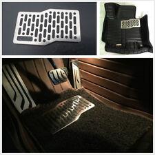 Car Floor Carpet Mat Plate Pedal Foot Rest Pad Stainless Steel Crop-DIY