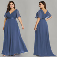 Ever-Pretty US Plus Size V-neck Mother Of Bride Gown Long Formal Evening Dress