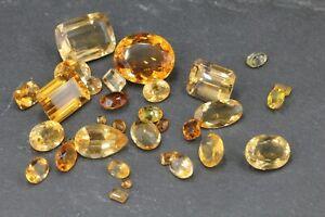 Citrin Edelstein lose ca 164 ct Edelsteine in gelb orange Gewicht 32,85g