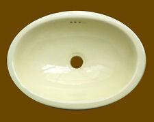 #104) SMALL 16x11.5 MEXICAN BATHROOM SINK CERAMIC DROP IN UNDERMOUNT BASIN