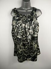 WOMENS CLEMENTS RIBEIRO MULTI COLOUR PATTERNED SLEEVELESS VEST TOP SIZE MEDIUM