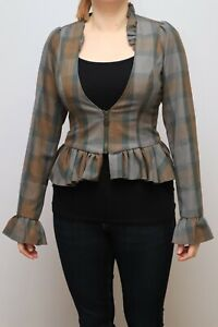 Outlander Hot Topic Womens Jacket, top, tartan, Scottish, Size SM
