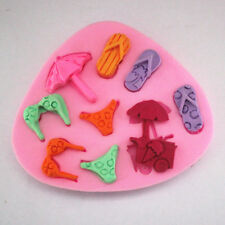 Mini Silicone 3D Handmade Beach Molds Cake Decorating Fondant Chocolate Mould